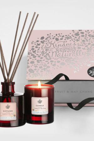 The Handmade Soap Company Candle & Diffuser Set - Grapefruit & May Chang