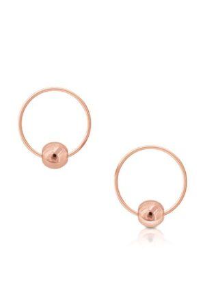 Tipperary Crystal Romi Rose Gold Bead Earrings - Berry