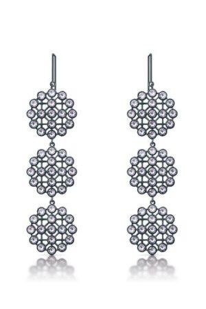 Tipperary Crystal Romi Gun Metal Net Earrings