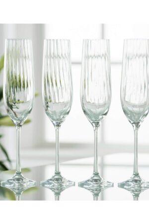 Galway Crystal Erne Champagne Flutes Set of 4