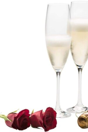Galway Crystal Elegance Champagne/Prosecco Set of 2 Glasses