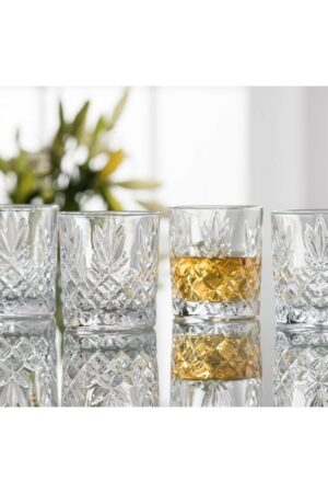 Galway Crystal Renmore D.O.F./Whiskey Set of 4