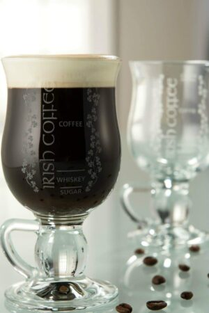 Galway Crystal Irish Coffee Glasses Pair