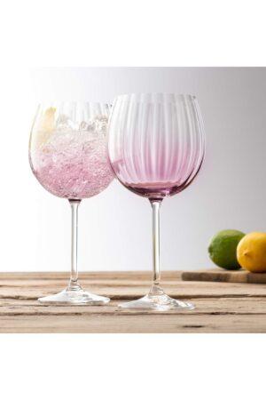Galway Crystal Erne Amethyst Gin & Tonic Pair