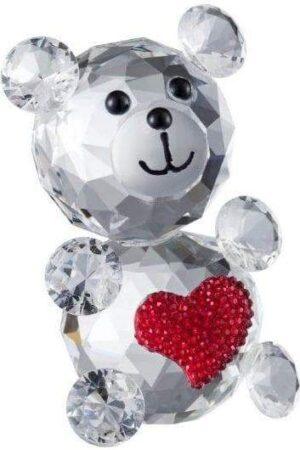Galway Crystal Pink Love Bear Figurine