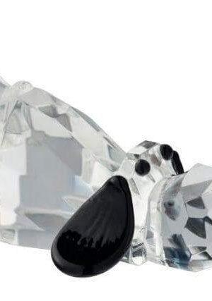Galway Crystal Large Hound Dog Figurine.