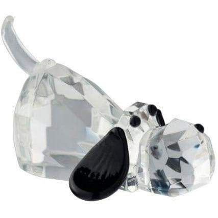 Galway Crystal Large Hound Dog Figurine.