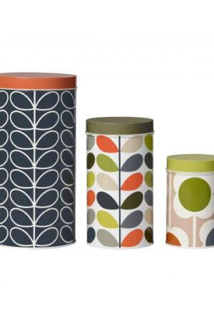 Orla Kiely Set of 3 Nesting Cannisters